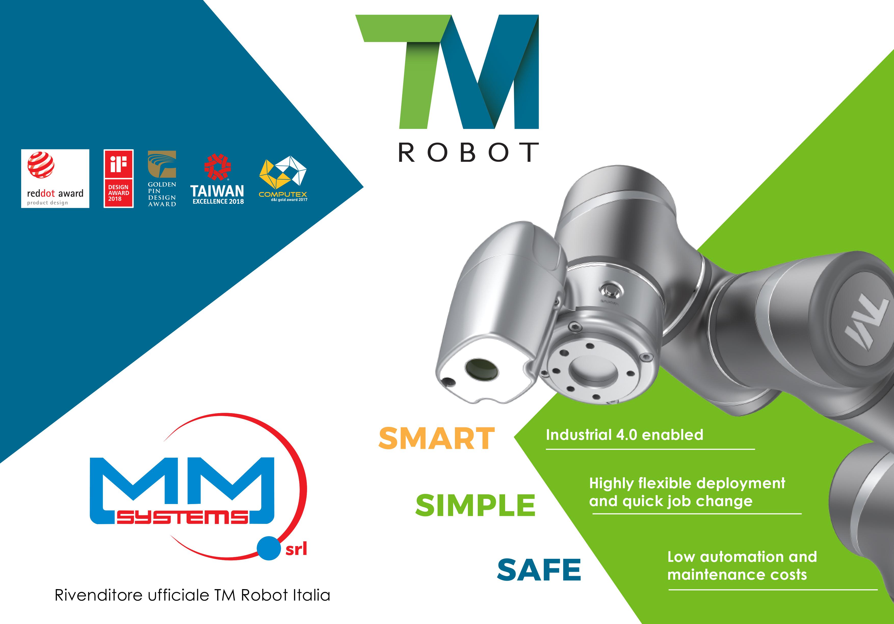 LA M.M. SYSTEMS  RIVENDITORE UFFICIALE DEI ROBOT COLLABORATIVI DELLA  TM ROBOT